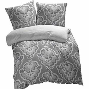 Kuschelige Bettwäsche aus Renforcé - grau 135x200 von Etérea