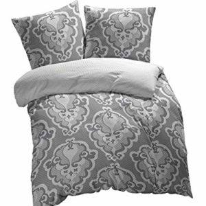 Traumhafte Bettwäsche aus Renforcé - grau 155x200 von Etérea