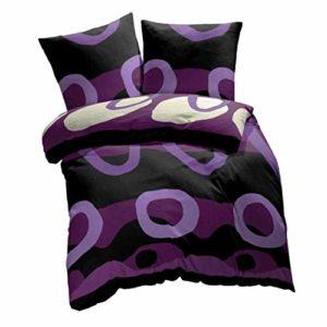 Kuschelige Bettwäsche aus Renforcé - schwarz 155x220 von Etérea