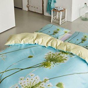 Traumhafte Bettwäsche aus Satin - blau 135x200 von Essenza