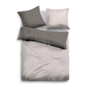 Schöne Bettwäsche aus Satin - grau 155x220 von TOM TAILOR
