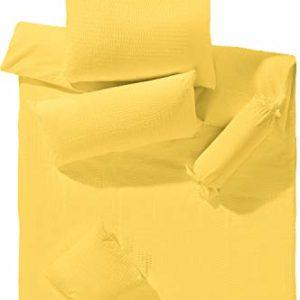 Schöne Bettwäsche aus Seersucker - gelb 135x200 von Erwin Müller
