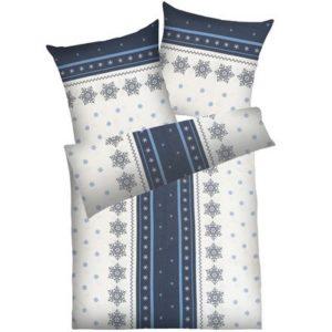 Traumhafte Bettwäsche aus Baumwolle - grau 135x200 von Dyckhoff