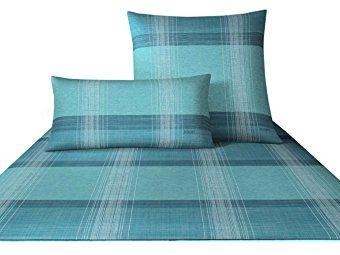 Hübsche Bettwäsche aus Baumwolle - türkis 135x200 von Joop!