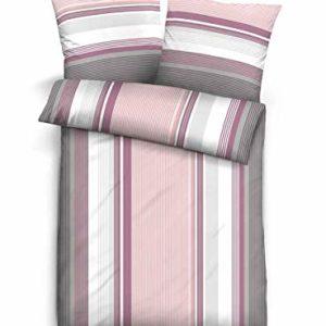 Schöne Bettwäsche aus Biber - weiß 135x200 von Castell