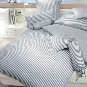 Traumhafte Bettwäsche aus Flanell - grau 155x220 von Janine