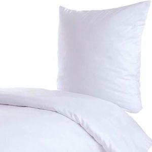Schöne Bettwäsche aus Linon - weiß 200x200 von Hans-Textil-Shop