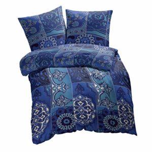 Kuschelige Bettwäsche aus Renforcé - blau 200x200 von Etérea