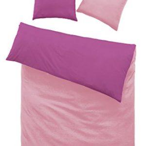 Kuschelige Bettwäsche aus Renforcé - rosa 135x200 von optidream