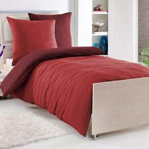 Kuschelige Bettwäsche aus Renforcé - rot 135x200 von optidream