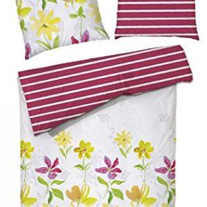 Schöne Bettwäsche aus Renforcé - rot 200x200 von Hahn