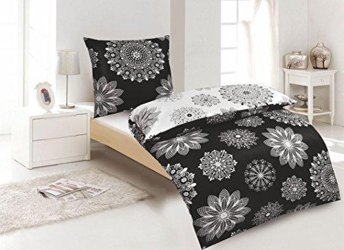 Hübsche Bettwäsche Aus Renforcé Schwarz Weiß 155x220 Von Protex