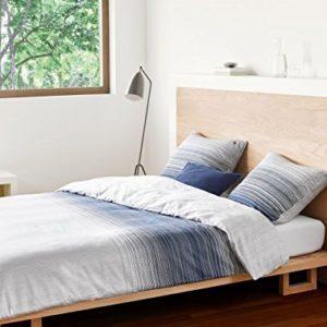 Schöne Bettwäsche aus Satin - blau 200x200 von Marc O'Polo HOME