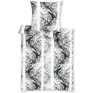 Schöne Bettwäsche aus Satin - schwarz 155x220 von Estella