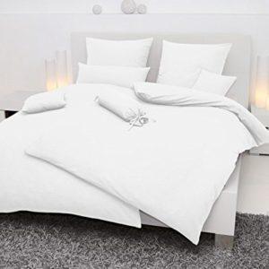 Kuschelige Bettwäsche aus Seersucker - weiß 155x200 von Janine Design