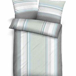 Kuschelige Bettwäsche aus Biber - blau 135x200 von Castell