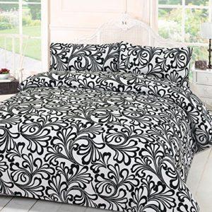 Hübsche Bettwäsche aus Damast - schwarz 135x200 von Dreamscene