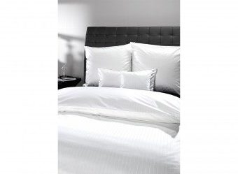 Schöne Bettwäsche aus Damast - weiß 135x200 von Curt Bauer