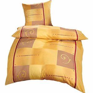 Hübsche Bettwäsche aus Flanell - gelb 155x200 von Erwin Müller