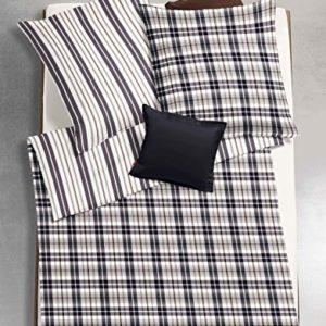 Traumhafte Bettwäsche aus Flanell - schwarz 155x220 von fleuresse