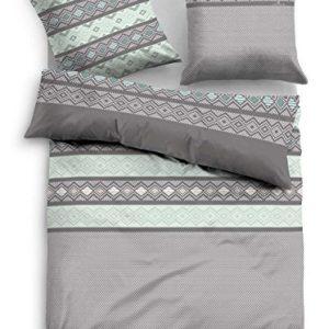 Hübsche Bettwäsche aus Flanell - türkis 155x220 von TOM TAILOR