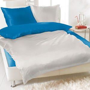 Hübsche Bettwäsche aus Fleece - türkis 135x200 von Bertels