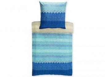 Kuschelige Bettwäsche aus Mako-Satin - blau 155x220 von Bassetti