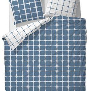 Traumhafte Bettwäsche aus Mako-Satin - blau 155x220 von Essenza