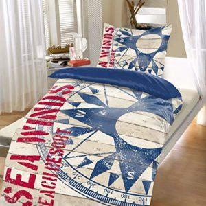 Kuschelige Bettwäsche aus Microfaser - blau 135x200 von Bertels