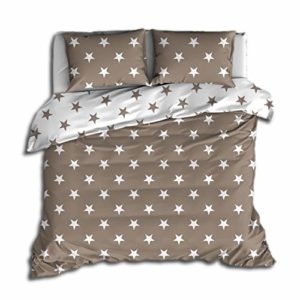 Hübsche Bettwäsche aus Perkal - braun 135x200 von Trend