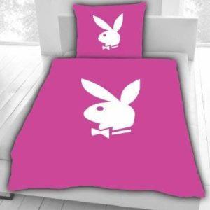 Hübsche Bettwäsche aus Polyester - rosa 135x200 von Playboy