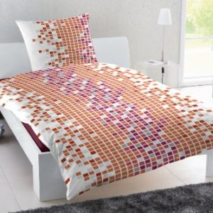 Kuschelige Bettwäsche aus Polyester - weiß 135x200 von Hahn Haustextilien