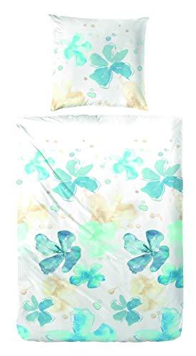 Kuschelige Bettwäsche aus Renforcé - blau 135x200 von Hahn