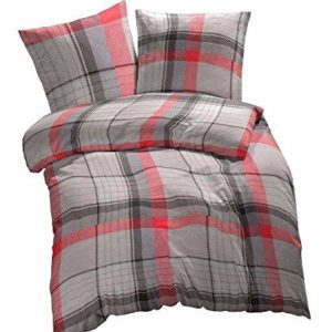 Hübsche Bettwäsche aus Renforcé - grau 135x200 von Etérea