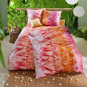Hübsche Bettwäsche aus Satin - rosa 155x220 von Estella