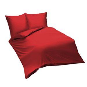 Traumhafte Bettwäsche aus Satin - rot 220x240 von fleuresse