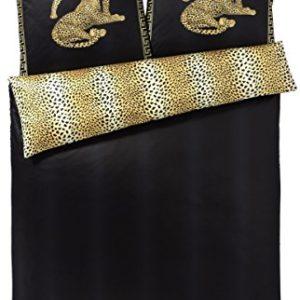 Schöne Bettwäsche aus Satin - schwarz 135x200 von elegante