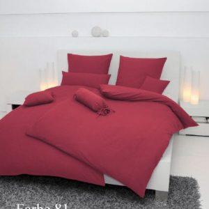Kuschelige Bettwäsche aus Seersucker - rot 135x200 von Janine Design