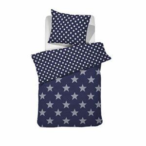 Schöne Bettwäsche aus Perkal - blau 135x200 von Damai