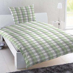 Schöne Bettwäsche aus Renforcé - grün 155x220 von