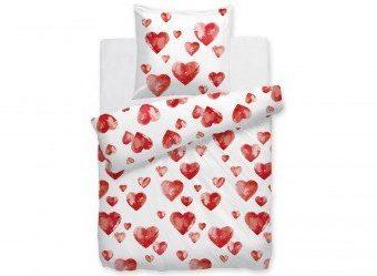Kuschelige Bettwäsche aus Renforcé - weiß 135x200 von HnL Living