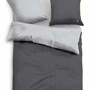 Hübsche Bettwäsche aus Satin - grün 135x200 von TOM TAILOR
