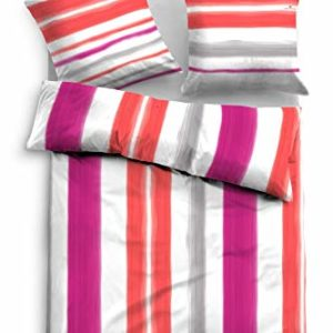 Kuschelige Bettwäsche aus Satin - rot 135x200 von TOM TAILOR