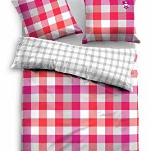 Kuschelige Bettwäsche aus Satin - rot 155x220 von TOM TAILOR