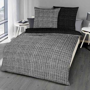 Kuschelige Bettwäsche aus Satin - schwarz 135x200 von Kaeppel