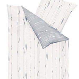 Hübsche Bettwäsche aus Biber - grau 135x200 von Kaeppel