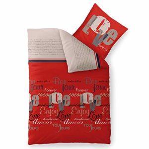 Kuschelige Bettwäsche aus Biber - grau 155x220 von CelinaTex