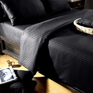 Traumhafte Bettwäsche aus Damast - schwarz 220x240 von Homescapes