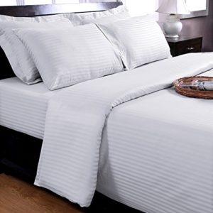 Traumhafte Bettwäsche aus Damast - weiß 220x240 von Homescapes
