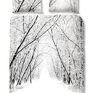 Hübsche Bettwäsche aus Flanell - weiß 135x200 von Good Morning!